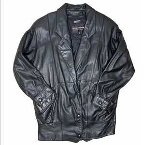 Wilson's The Leather Experts Jacket Snap Clousure
